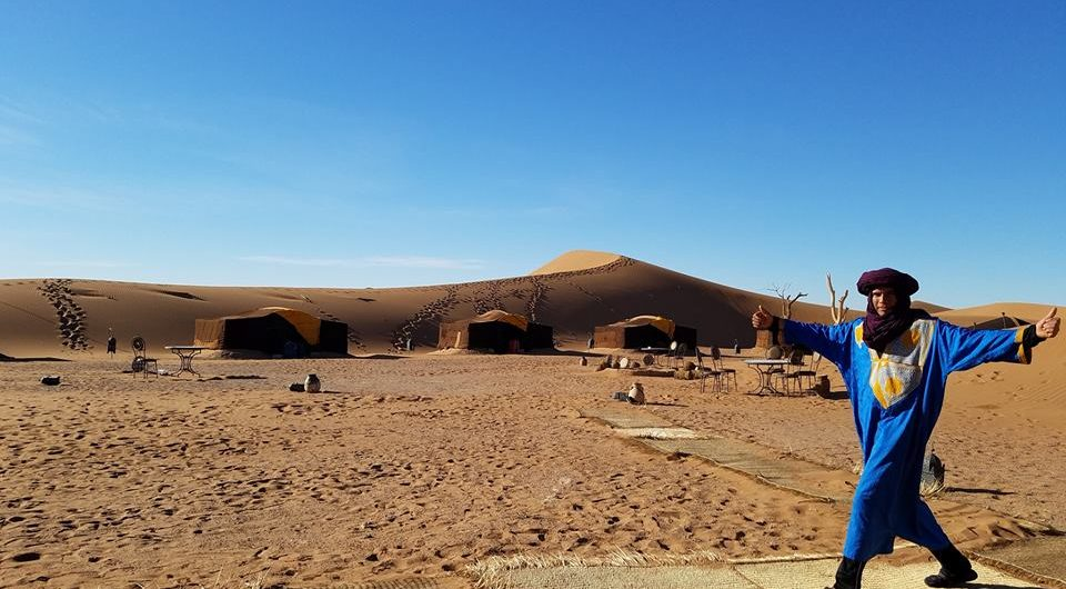 Stay at the desert Camp giving off an impression of calm and serenity