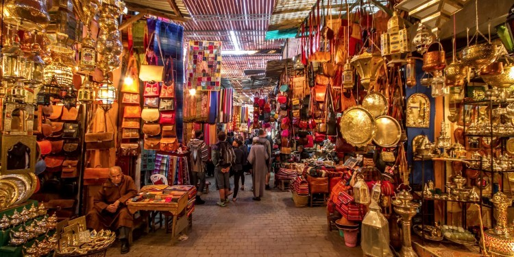 The souks of Marrakech are ranked among the largest and most beautiful in Morocco