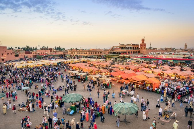 The Djema El-Fna square a place of encounters in Marrakech